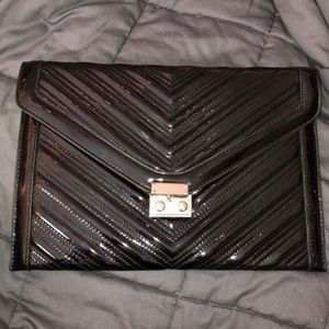 BCBG large black clutch